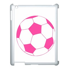 Soccer Ball Pink Apple Ipad 3/4 Case (white)