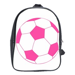 Soccer Ball Pink School Bag (XL)