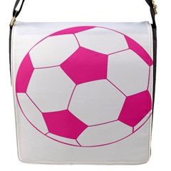 Soccer Ball Pink Removable Flap Cover (small)