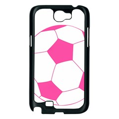 Soccer Ball Pink Samsung Galaxy Note 2 Case (Black)