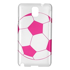 Soccer Ball Pink Samsung Galaxy Note 3 N9005 Hardshell Case