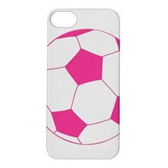 Soccer Ball Pink Apple iPhone 5S Hardshell Case