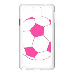 Soccer Ball Pink Samsung Galaxy Note 3 N9005 Case (white)