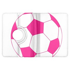 Soccer Ball Pink Kindle Fire HDX 7  Flip 360 Case