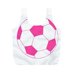 Soccer Ball Pink Reusable Bag (m)