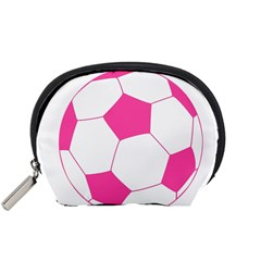 Soccer Ball Pink Accessories Pouch (Small)