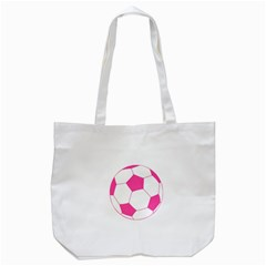Soccer Ball Pink Tote Bag (White)