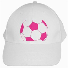Soccer Ball Pink White Baseball Cap