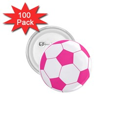 Soccer Ball Pink 1.75  Button (100 pack)