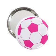 Soccer Ball Pink Handbag Mirror (2 25 )