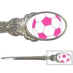 Soccer Ball Pink Letter Opener