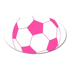Soccer Ball Pink Magnet (oval)