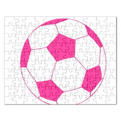 Soccer Ball Pink Jigsaw Puzzle (rectangle)
