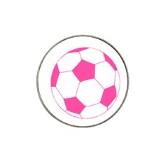 Soccer Ball Pink Golf Ball Marker 10 Pack (for Hat Clip)