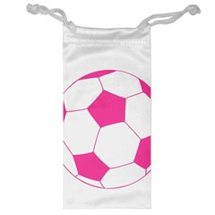 Soccer Ball Pink Jewelry Bag