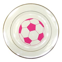 Soccer Ball Pink Porcelain Display Plate