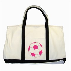 Soccer Ball Pink Two Toned Tote Bag