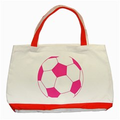 Soccer Ball Pink Classic Tote Bag (Red)