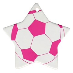 Soccer Ball Pink Star Ornament (Two Sides)