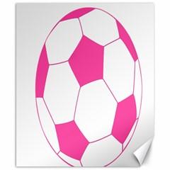 Soccer Ball Pink Canvas 8  x 10  (Unframed)