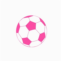 Soccer Ball Pink Canvas 24  x 36  (Unframed)