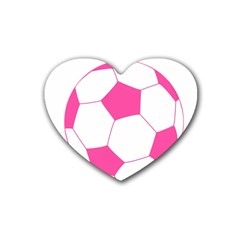 Soccer Ball Pink Drink Coasters 4 Pack (Heart)