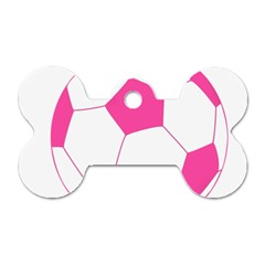 Soccer Ball Pink Dog Tag Bone (Two Sided)