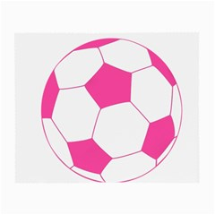Soccer Ball Pink Glasses Cloth (Small, Two Sided)