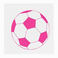 Soccer Ball Pink Glasses Cloth (Medium, Two Sided)