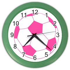 Soccer Ball Pink Wall Clock (Color)