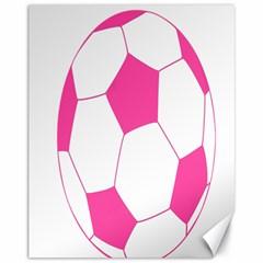 Soccer Ball Pink Canvas 11  x 14  (Unframed)