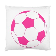 Soccer Ball Pink Cushion Case (single Sided)