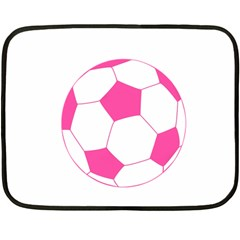 Soccer Ball Pink Mini Fleece Blanket (Two Sided)