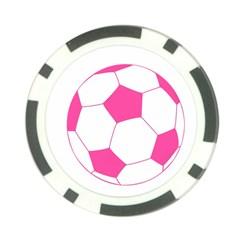 Soccer Ball Pink Poker Chip (10 Pack)