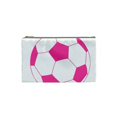 Soccer Ball Pink Cosmetic Bag (small)