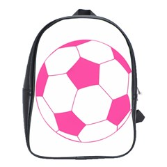 Soccer Ball Pink School Bag (large)