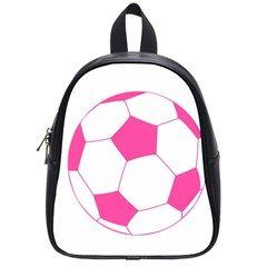 Soccer Ball Pink School Bag (small)