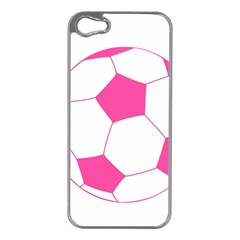 Soccer Ball Pink Apple Iphone 5 Case (silver)