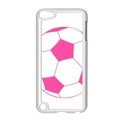 Soccer Ball Pink Apple iPod Touch 5 Case (White)