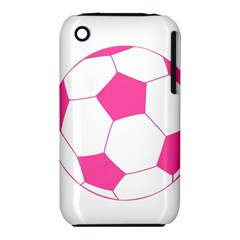 Soccer Ball Pink Apple iPhone 3G/3GS Hardshell Case (PC+Silicone)