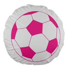 Soccer Ball Pink 18  Premium Round Cushion