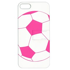 Soccer Ball Pink Apple Iphone 5 Hardshell Case With Stand