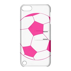 Soccer Ball Pink Apple Ipod Touch 5 Hardshell Case With Stand