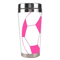 Soccer Ball Pink Stainless Steel Travel Tumbler