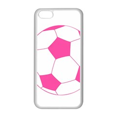 Soccer Ball Pink Apple iPhone 5C Seamless Case (White)