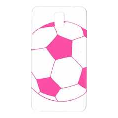 Soccer Ball Pink Samsung Galaxy Note 3 N9005 Hardshell Back Case