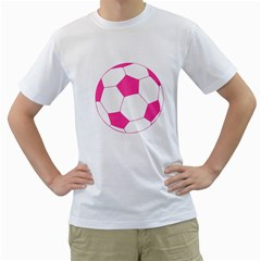 Soccer Ball Pink Men s T Shirt (white)