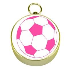 Soccer Ball Pink Gold Compass
