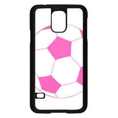 Soccer Ball Pink Samsung Galaxy S5 Case (Black)