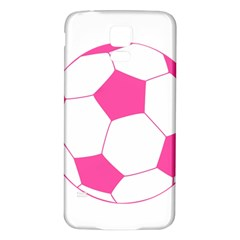 Soccer Ball Pink Samsung Galaxy S5 Back Case (white)